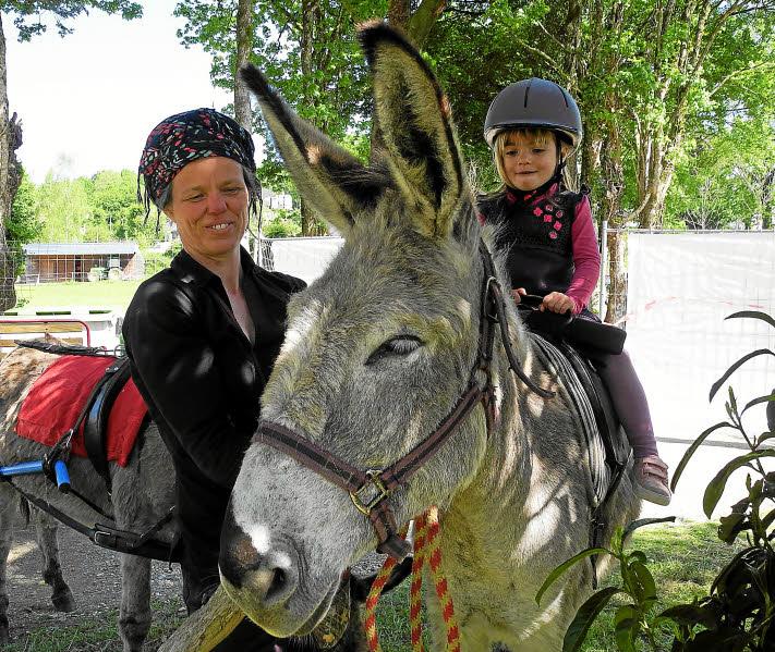 Armelle, activités avec ses ânes