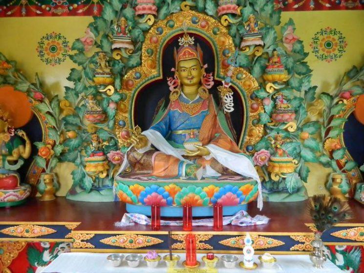 L'intérieur du stupa