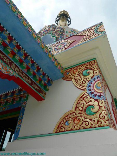 L'extérieur du Stupa