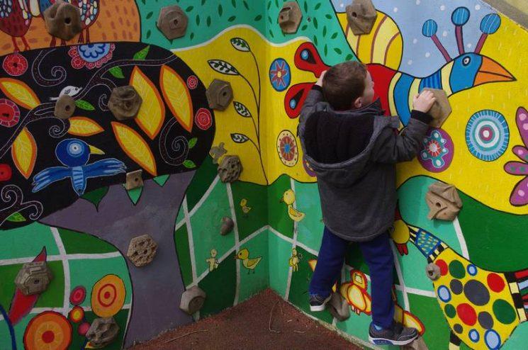 Mur d'escalade à Saint-Niau