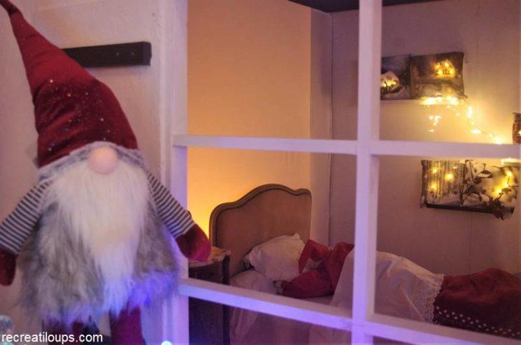 Le Père Noël se repose avant sa tournée