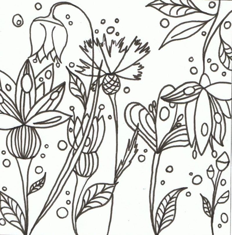 Les Fleurs Coloriage Gratuit A Imprimer Recreatiloups